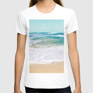 The Ocean Womens Fitted Tee White SMALL