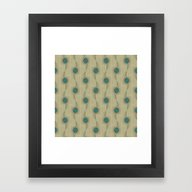 Framed Art Print featuring Turquoise Circles Patter… by Corbin Henry