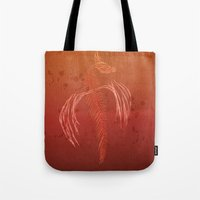 Dragon In Red Tote Bag