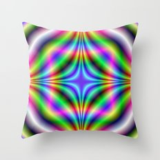 Shapes in Neon Colors Throw Pillow