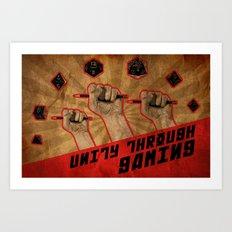 Unity Through Gaming! Art Print