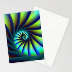 Staircase Spiral in Blue and Turquoise Stationery Cards
