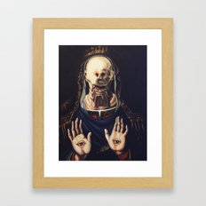 Pale Man With Crown Framed Art Print