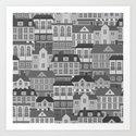 Urban. Black and white Art Print