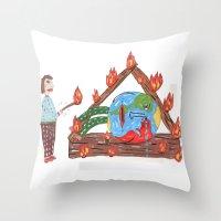 Mundinho - Burn Throw Pillow