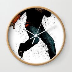 Onward Ever Downwards Wall Clock