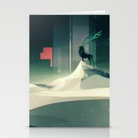 Winter in a dark world Stationery Cards