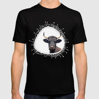 Yellow Horns Mens Fitted Tee Black SMALL