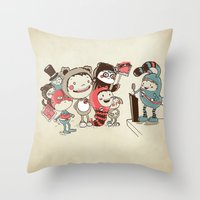 Costume Party Throw Pillow