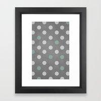 Concrete & PolkaDots Framed Art Print