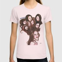 PEYOTE LDR  Womens Fitted Tee Light Pink SMALL