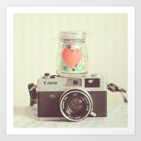 Vintage Camera Love  Art Print