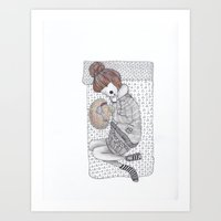 lonely hearts Art Print