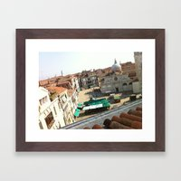 view from ruzzini - venice Framed Art Print