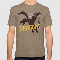 Dragons Mens Fitted Tee Tri-Coffee SMALL