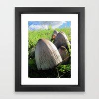 Organic Minaret Framed Art Print