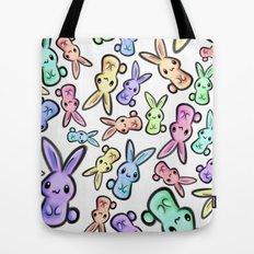Pastel Bunnies Tote Bag