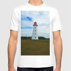 Point Prim Lighthouse and Shore SMALL Mens Fitted Tee White