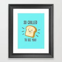 Cheesy Greetings! Framed Art Print