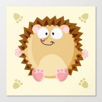 Hedgehog form the circle series Canvas Print