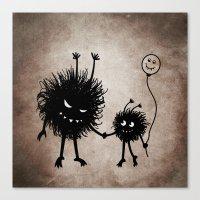 Evil Flower Bug Mother's Day Canvas Print