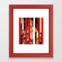 Stars in stripes 5 + Framed Art Print