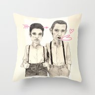Meet The Valentines Throw Pillow