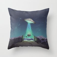 Abducted Throw Pillow