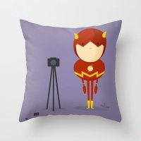 My camera hero! Throw Pillow