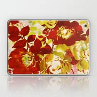 Floral In Red Laptop & iPad Skin