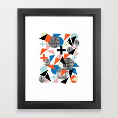 Kimbah - abstract art print shapes modern geometric retro cool colorful hipster gift idea dorm room  Framed Art Print