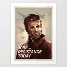 Join the Resistance Today -Poe- Art Print