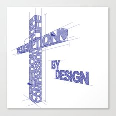 By Design Canvas Print