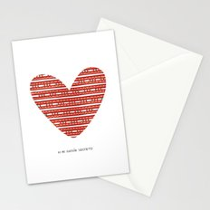 CORAZON (rojo) Stationery Cards