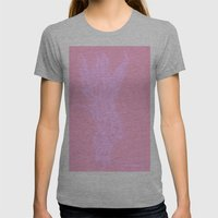 Pink Fire Womens Fitted Tee Athletic Grey SMALL