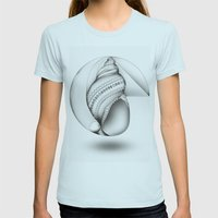 Mathematical Nurture Womens Fitted Tee Light Blue SMALL
