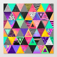 Quirky Triangles Canvas Print