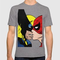 Heroes Mens Fitted Tee Tri-Grey SMALL