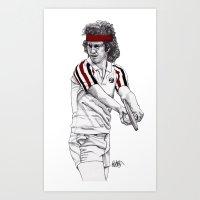 Tennis Mcenroe Art Print