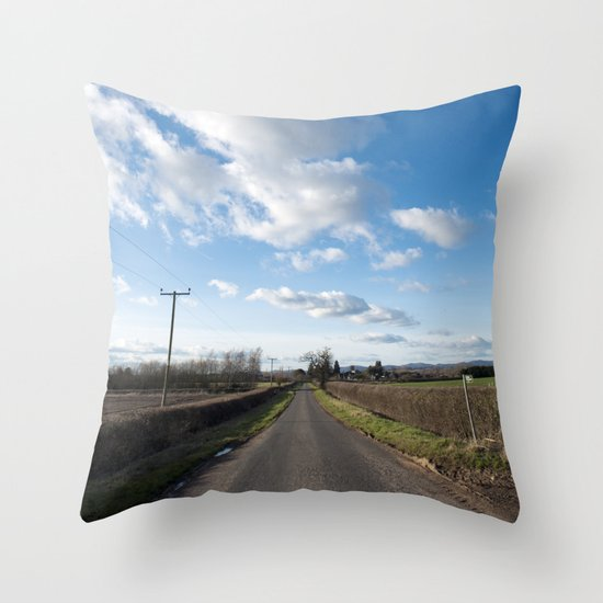 many miles of sky... Throw Pillow