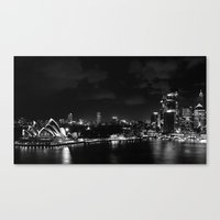 Sidney by night Canvas Print