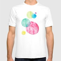 Hello Nowhere Mens Fitted Tee White SMALL