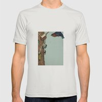 Bird House Mens Fitted Tee Silver SMALL