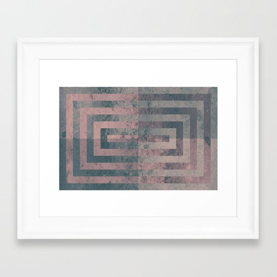 Aged cement texture abstraction Framed Art Print