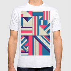 Geo1. Mens Fitted Tee Ash Grey SMALL