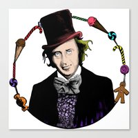 Merry Christmas From The Chocolate Factory Canvas Print