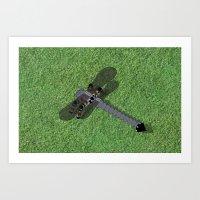 Mechanical Dragonfly Art Print