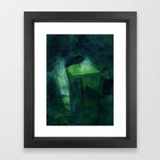 Crystal Evaporating in a Full Void Framed Art Print