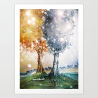 Ezellohar Trees Art Print