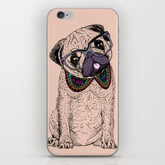 Hipster Pug  iPhone & iPod Skin